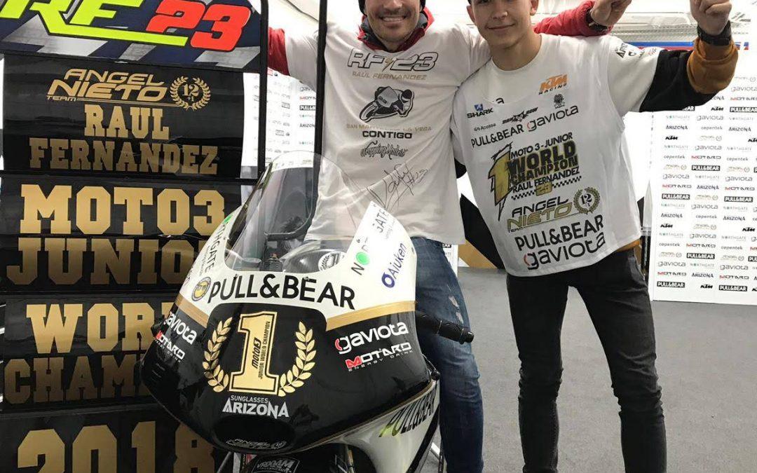 Raúl Fernández se proclama Campeón del FIM CEV Repsol Moto3
